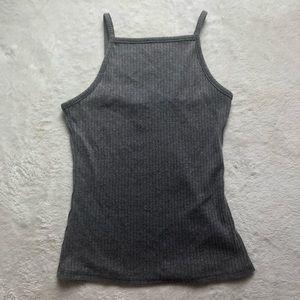 Rue 21 grey high neck tank top